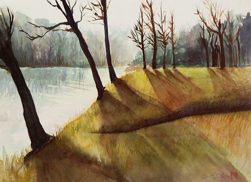 """23 degrees on the Brandywine"" by Carol Worthington-Levy. In the collection of Linda Sheppard."